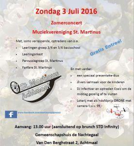 Poster Zomerconcert StMartinus 2016